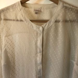 Great Merona transition top! Sheer! Long sleeves.